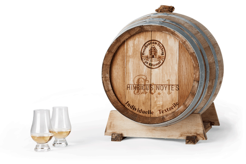 personalisierter Whisky im 40 l Fass
